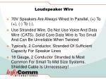 loudspeaker wire