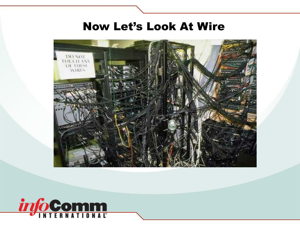 Now Let's Look At Wire