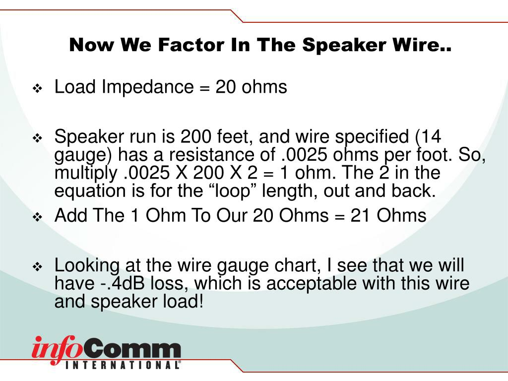 Now We Factor In The Speaker Wire..