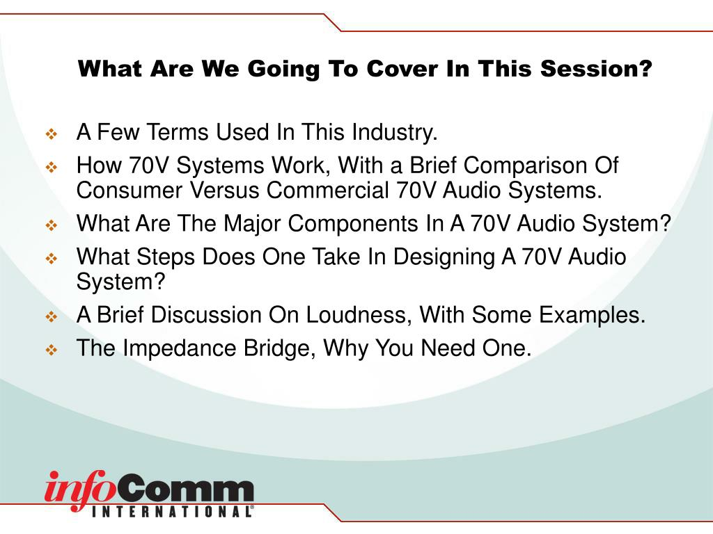 What Are We Going To Cover In This Session?