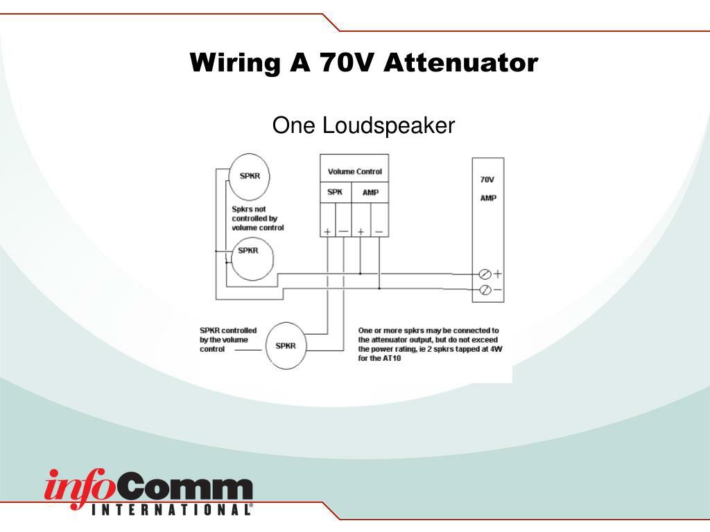 Wiring A 70V Attenuator