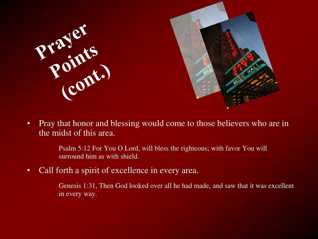 Prayer Points (cont.)