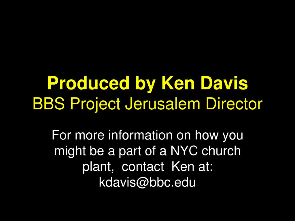 Produced by Ken Davis