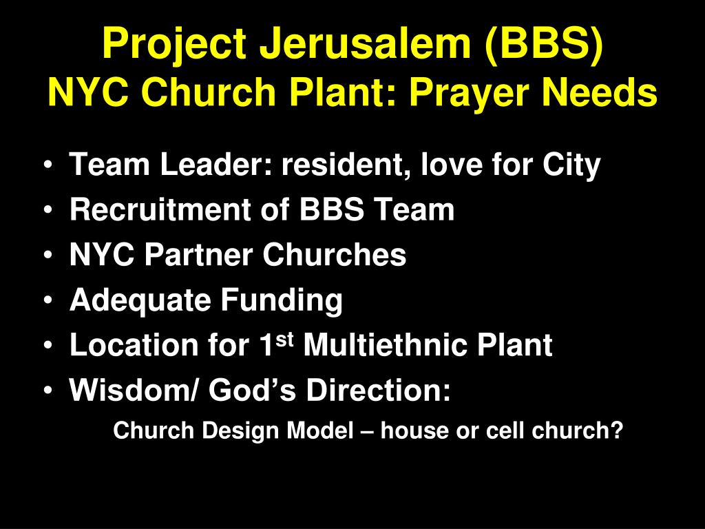 Project Jerusalem (BBS)