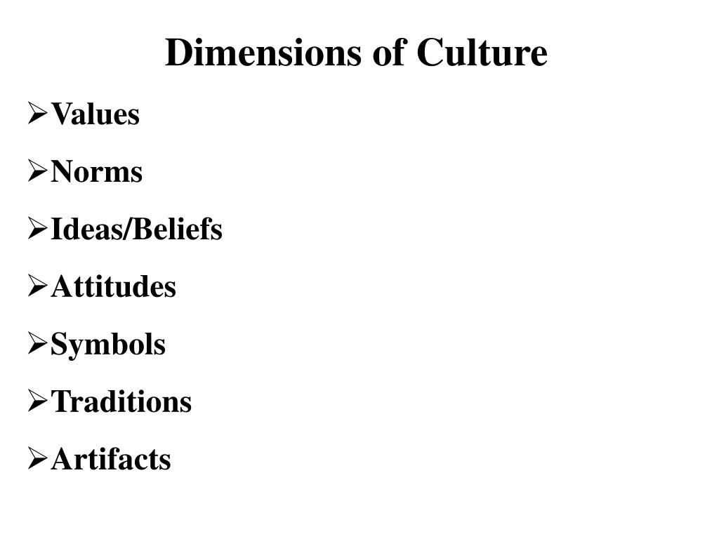 Dimensions of Culture