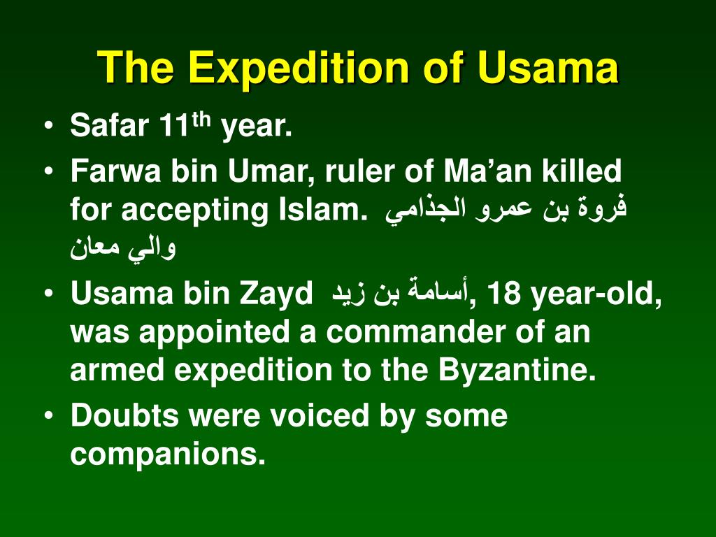 The Expedition of Usama
