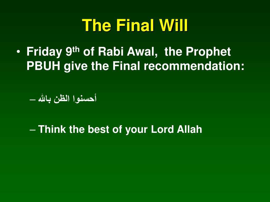 The Final Will