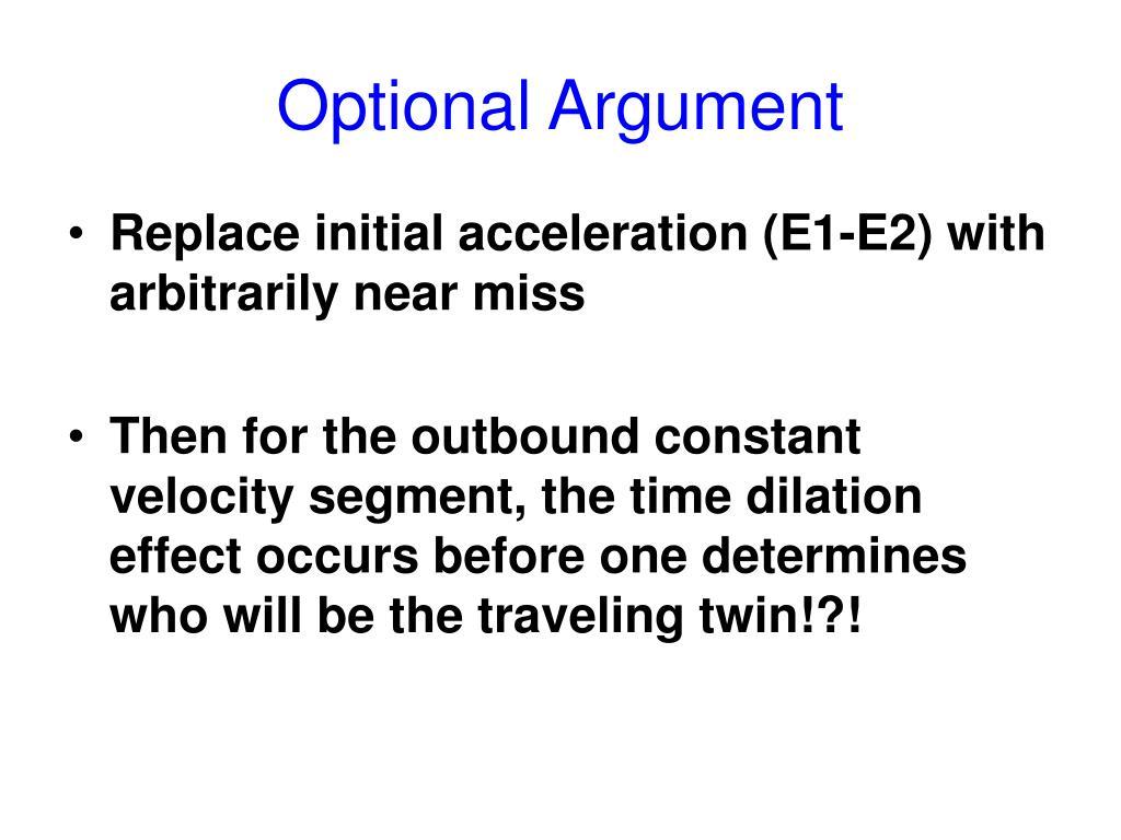 Optional Argument