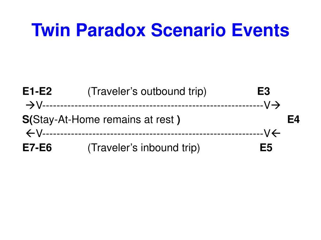 Twin Paradox Scenario Events