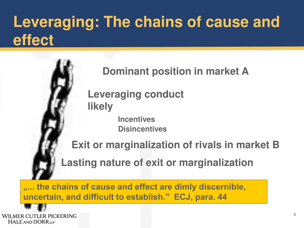 Leveraging: The chains of cause and effect