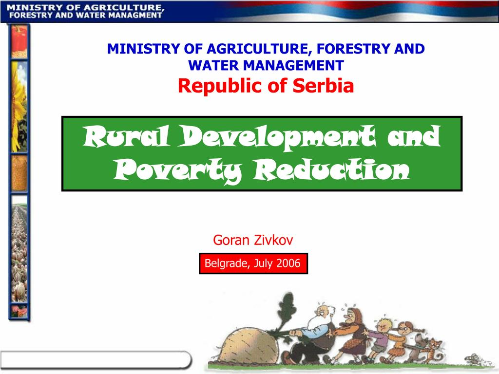 MINISTRY OF AGRICULTURE, FORESTRY AND WATER MANAGEMENT