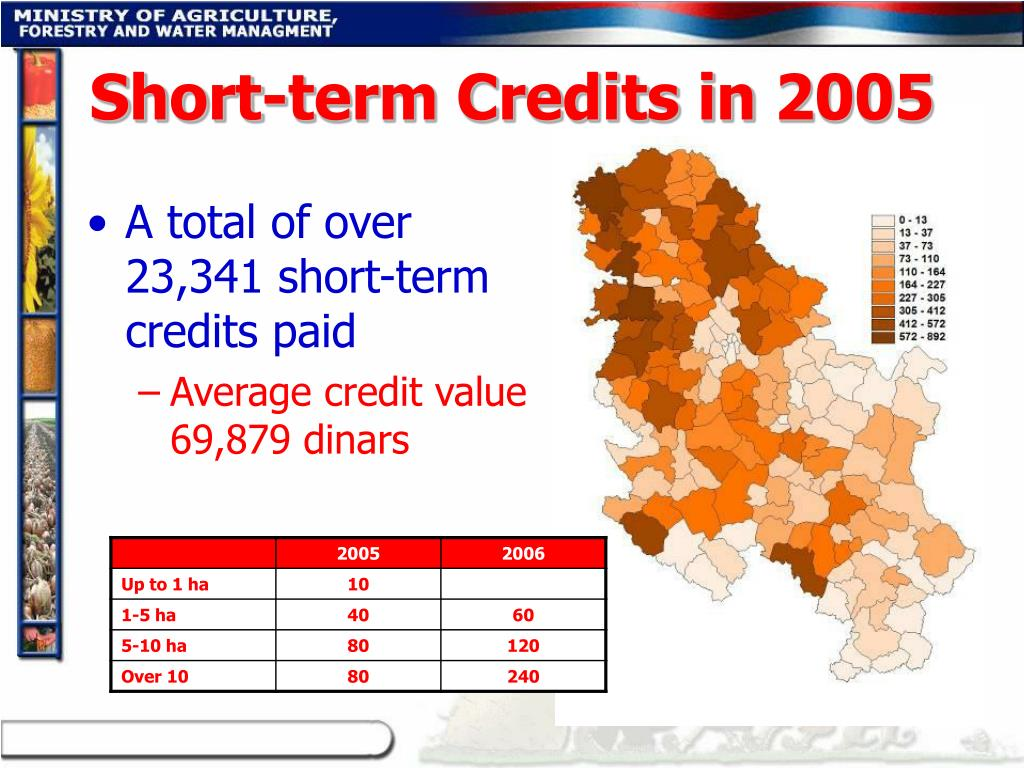 Short-term Credits in