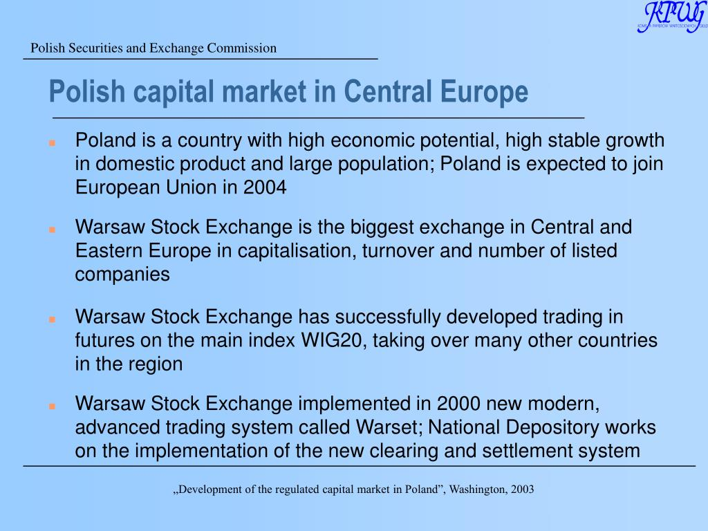 Polish capital market in Central Europe