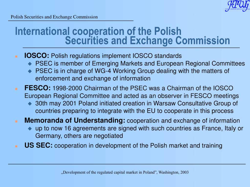 International cooperation of the Polish