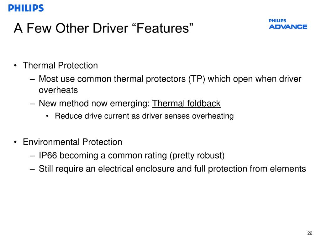 """A Few Other Driver """"Features"""""""