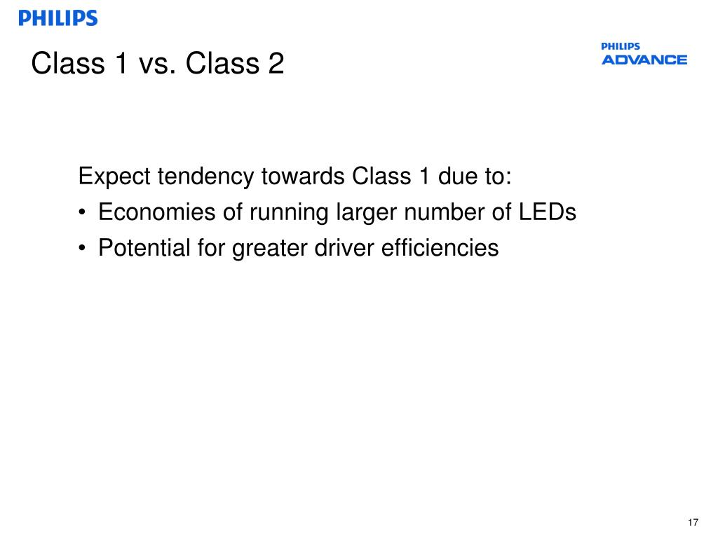Class 1 vs. Class 2