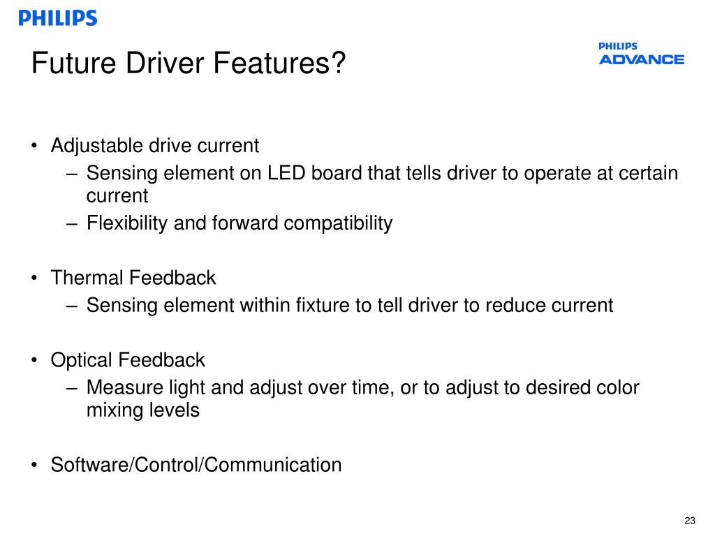 Future Driver Features?