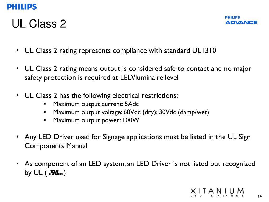 UL Class 2
