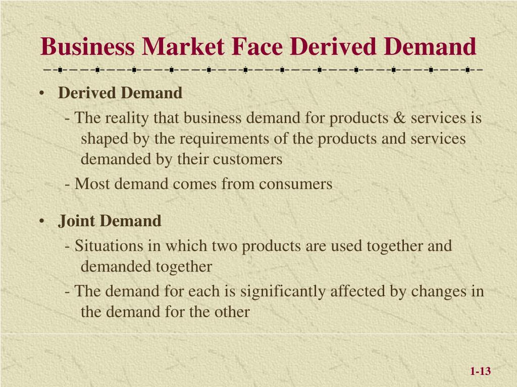 Business Market Face Derived Demand