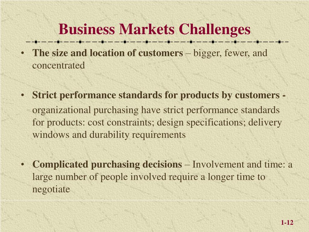 Business Markets Challenges
