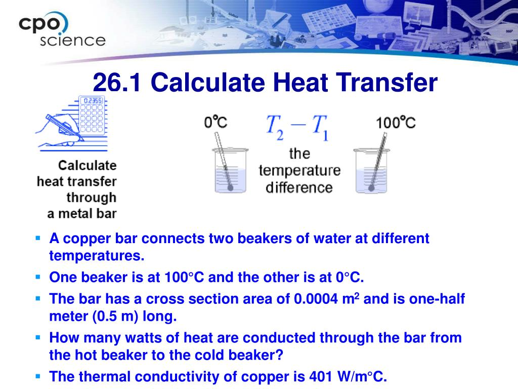 26.1 Calculate Heat Transfer