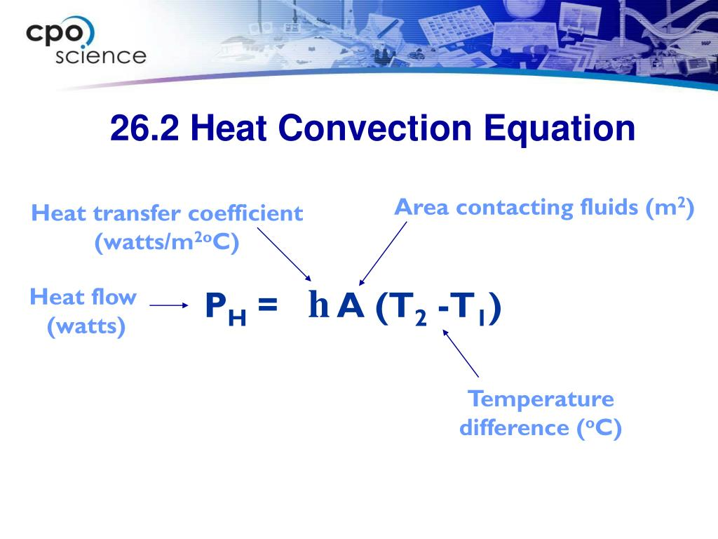 26.2 Heat Convection Equation