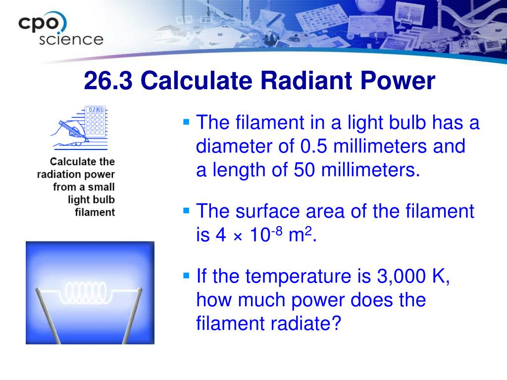 26.3 Calculate Radiant Power