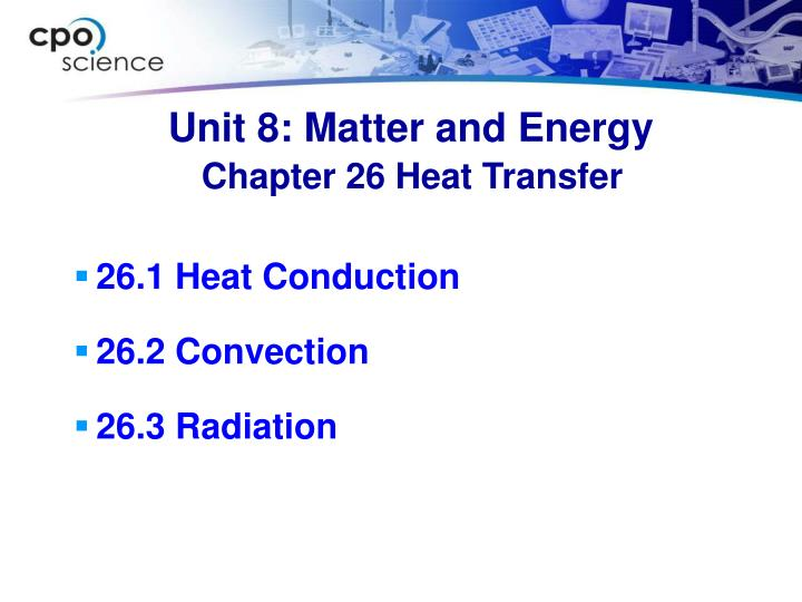 Unit 8 matter and energy