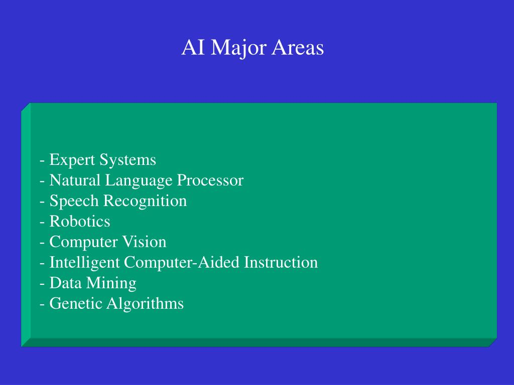 - Expert Systems