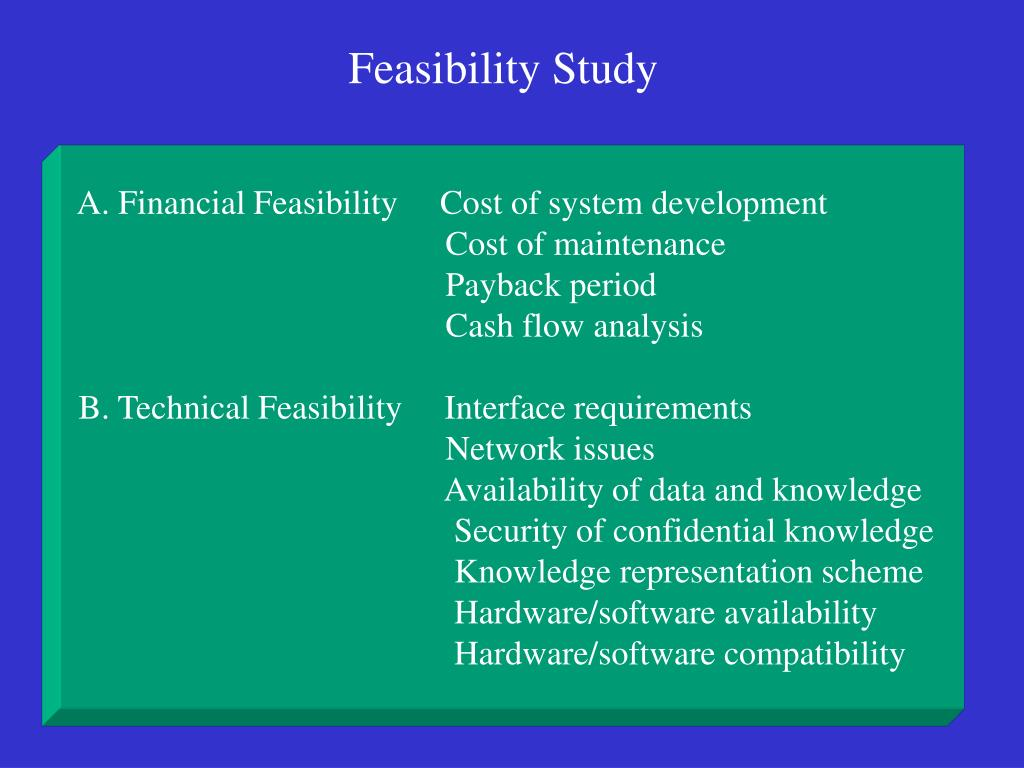 A. Financial Feasibility     Cost of system development