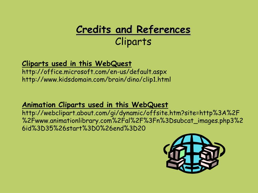 Credits and References