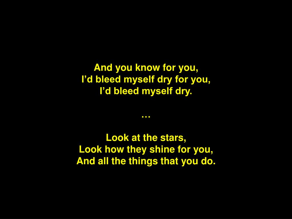 And you know for you,