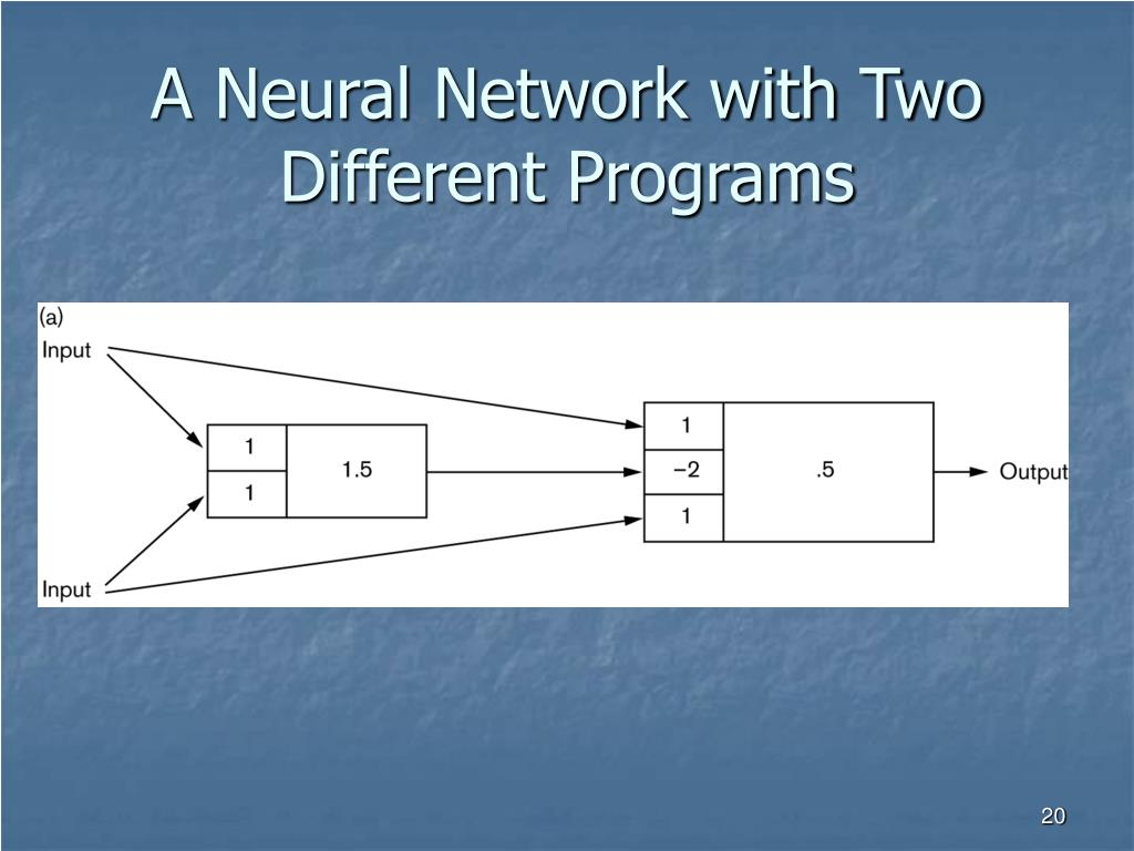 A Neural Network with Two Different Programs