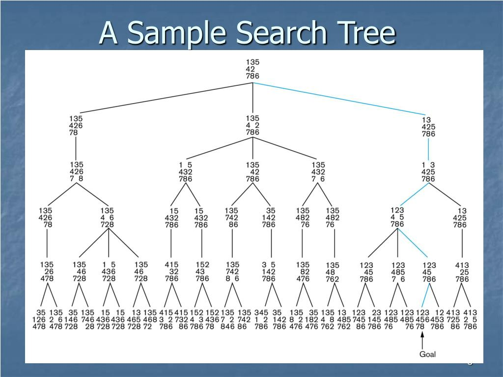 A Sample Search Tree
