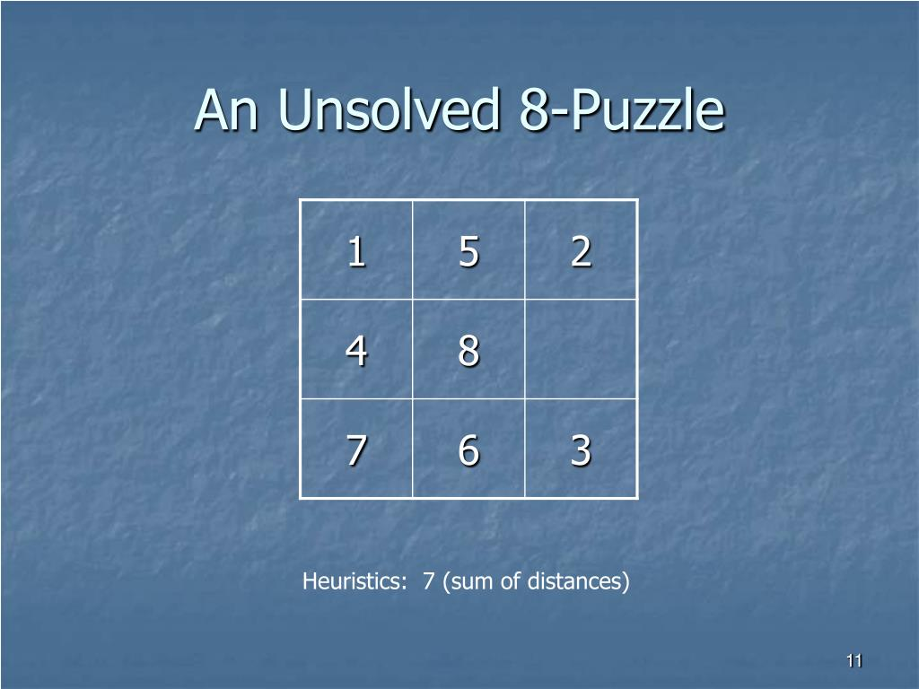 An Unsolved 8-Puzzle
