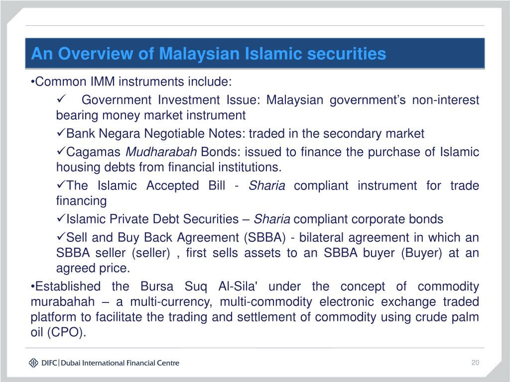 An Overview of Malaysian Islamic securities
