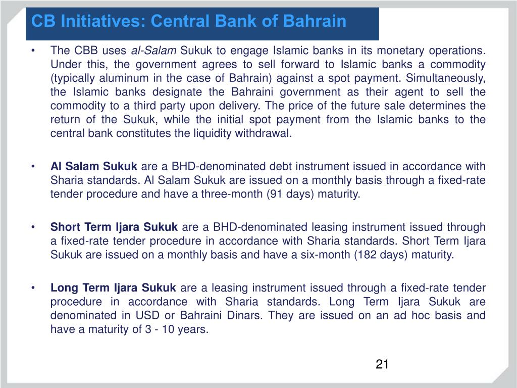 CB Initiatives: Central Bank of Bahrain