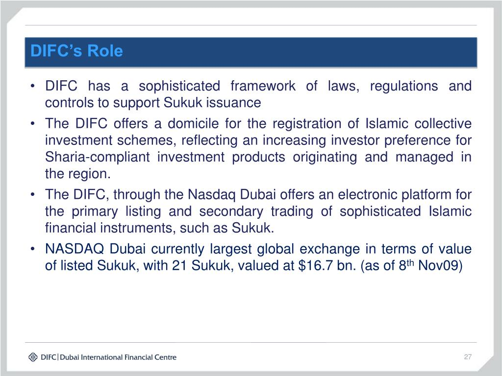 DIFC's Role