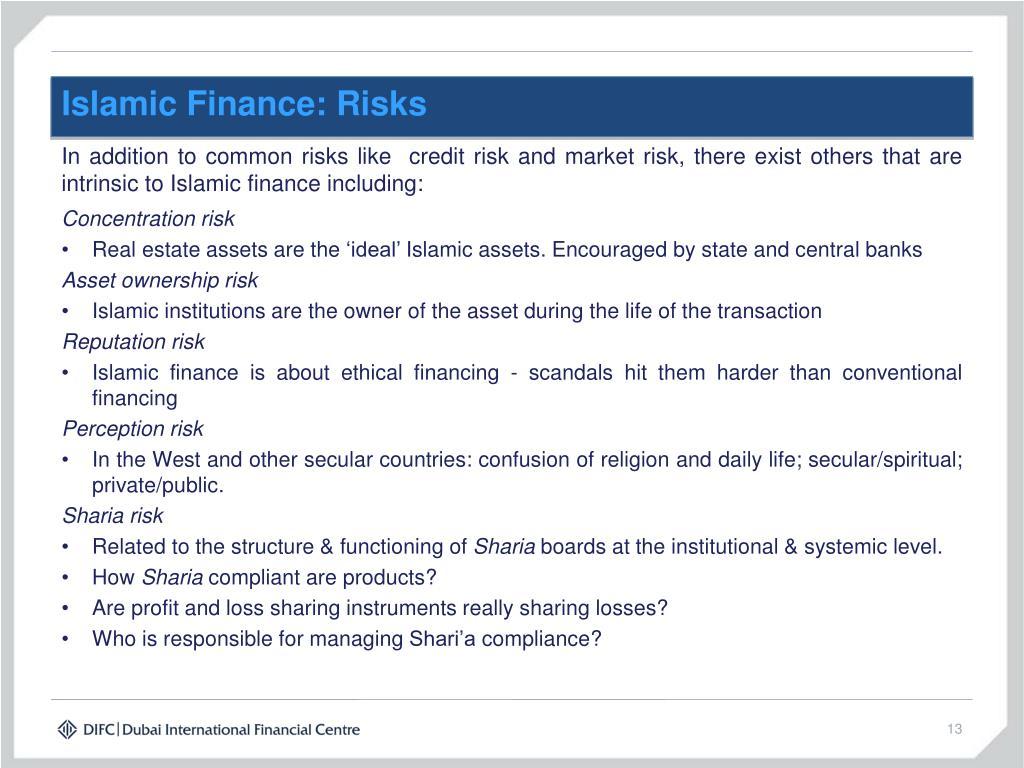 Islamic Finance: Risks