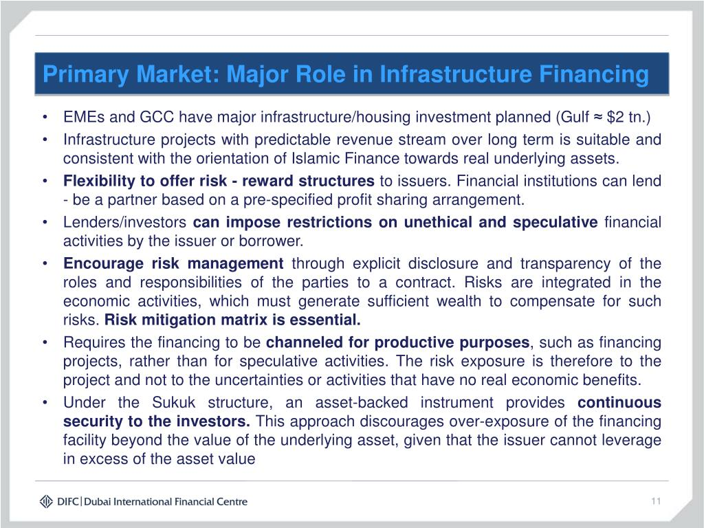 Primary Market: Major Role in Infrastructure Financing