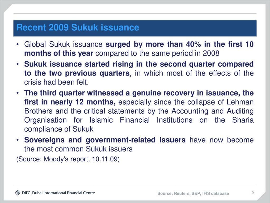 Recent 2009 Sukuk issuance