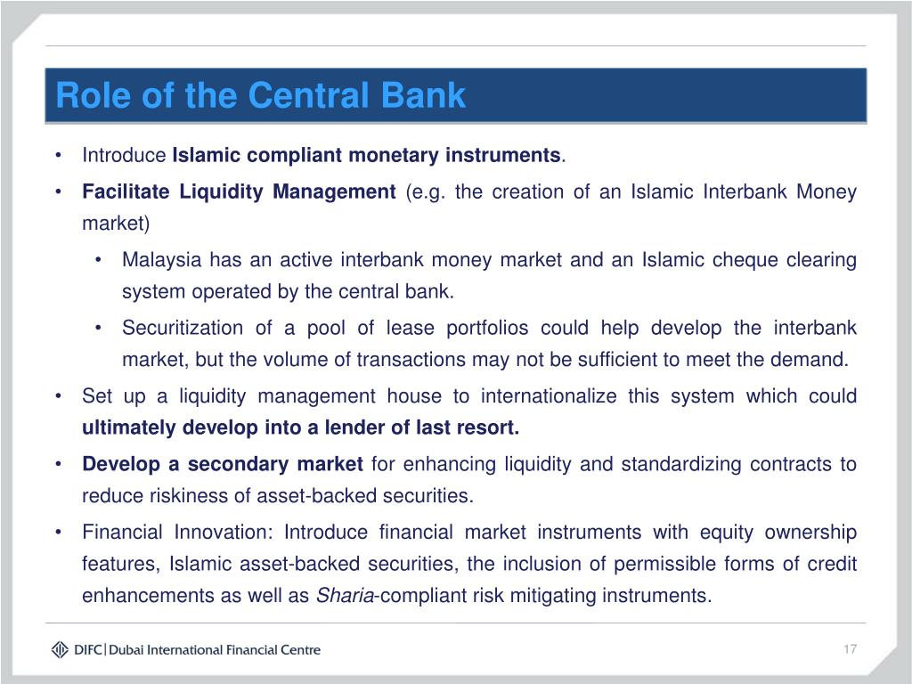Role of the Central Bank