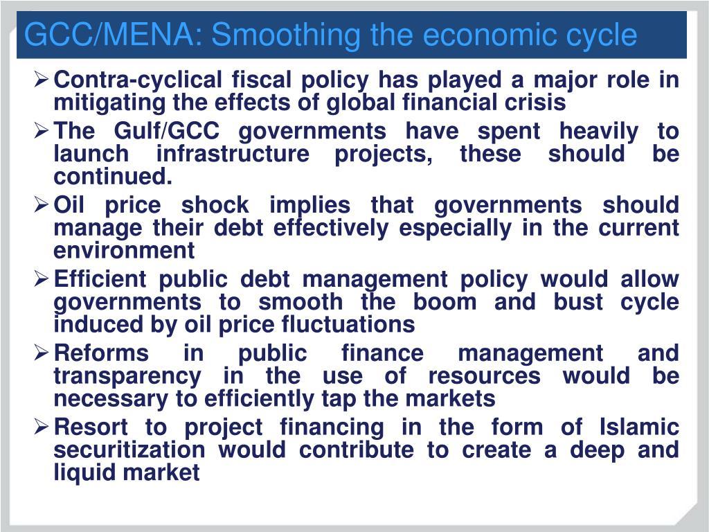 GCC/MENA: Smoothing