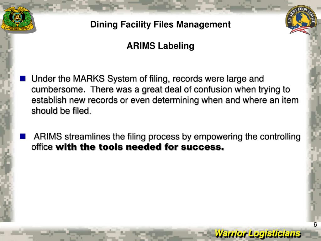 Dining Facility Files Management