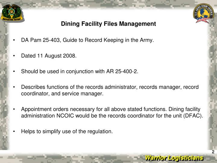 Dining facility files management2