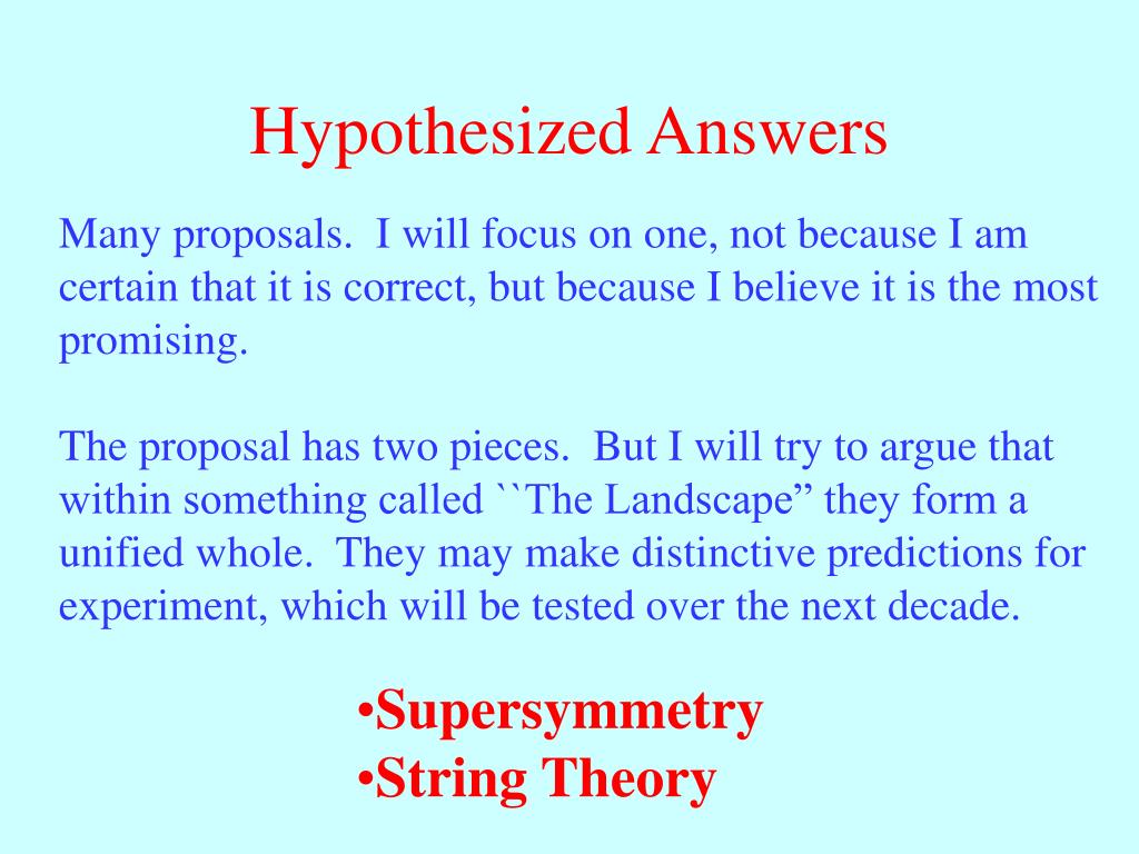 Hypothesized Answers