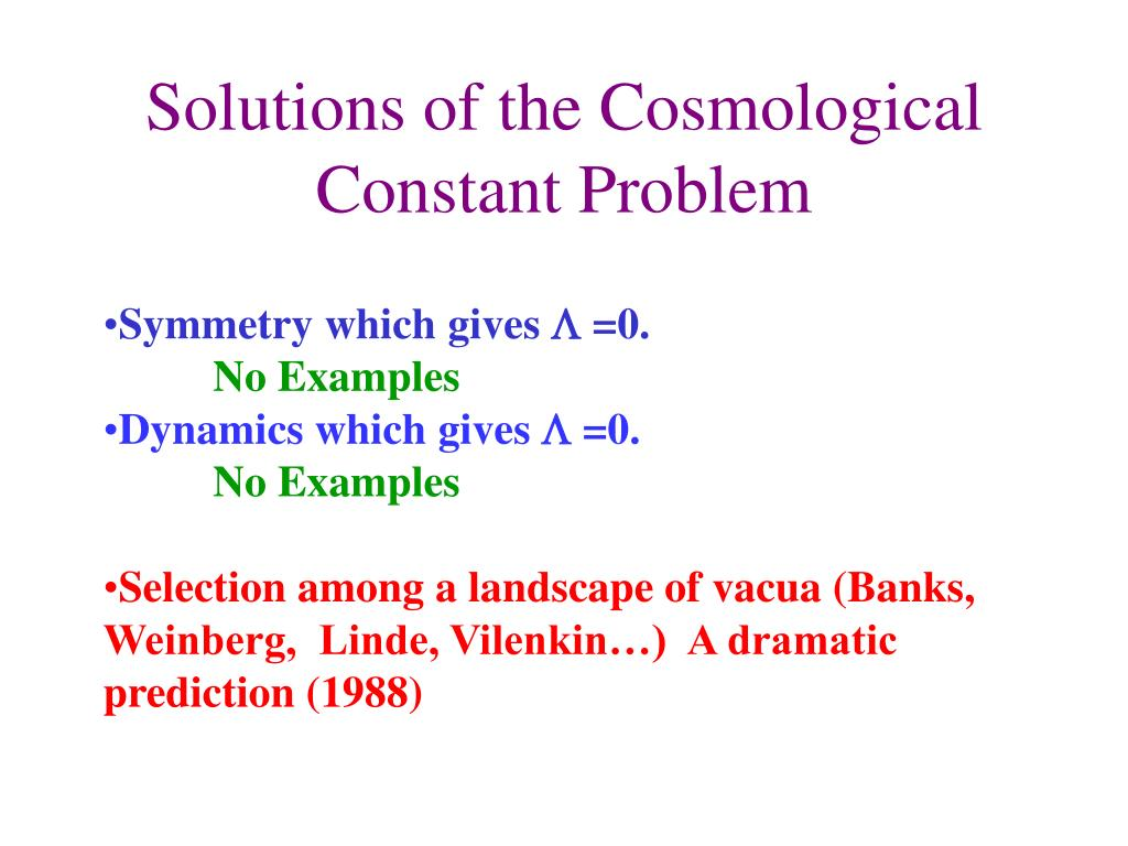 Solutions of the Cosmological Constant Problem