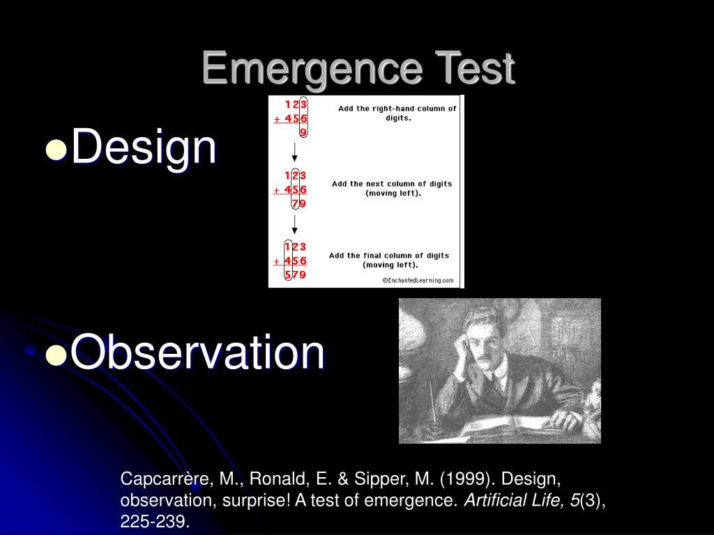 Emergence Test