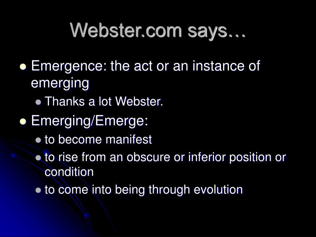 Webster.com says…