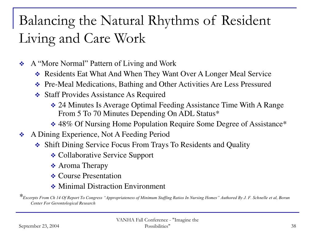 Balancing the Natural Rhythms of Resident Living and Care Work
